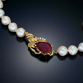 Pearl Clasp Necklace